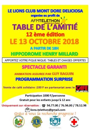 Affiche Table de l'Amitié